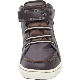 Viking Moss Mid Shoes Junior Dark Brown/Charcoal